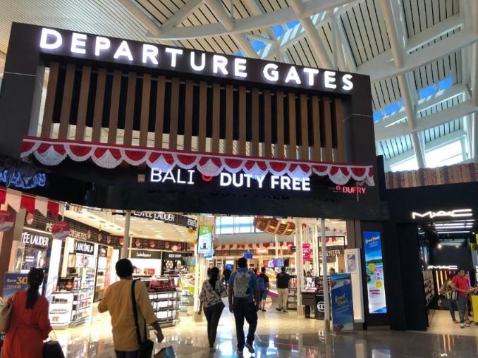 バリのングラライ国際空港の制限区域
