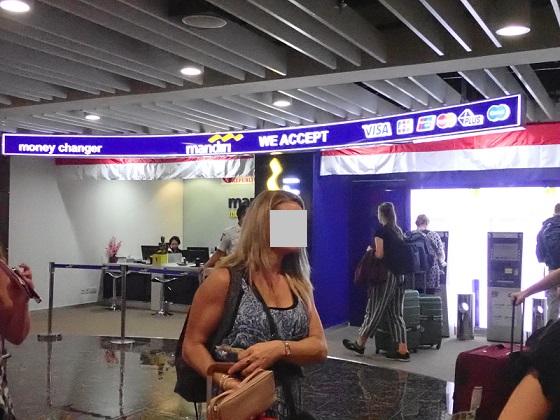 バリ空港の両替
