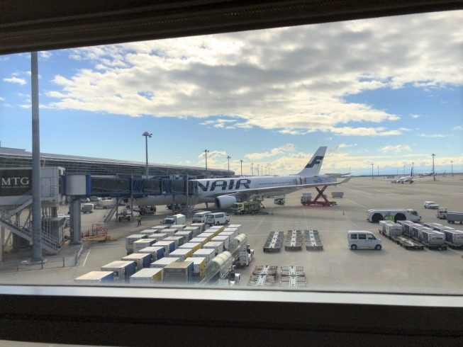 中部国際空港のJALサクララウンジの景色