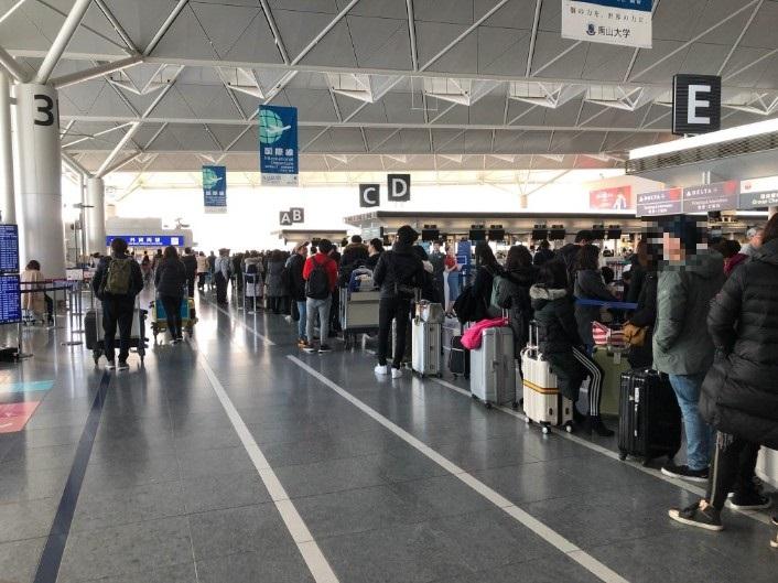 年末の中部空港国際線