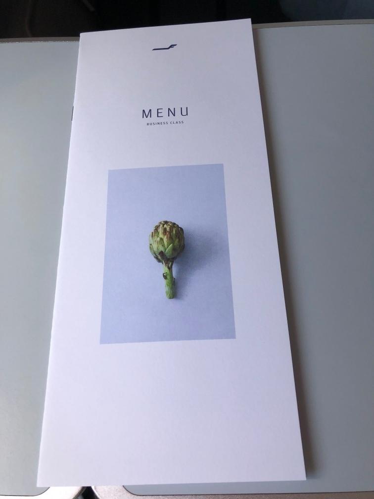 フィンエアービジネスの食事メニュー