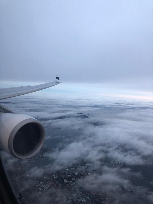ヘルシンキ上空