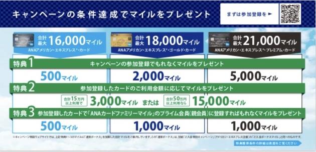 ANAカード新規入会キャンペーン内容