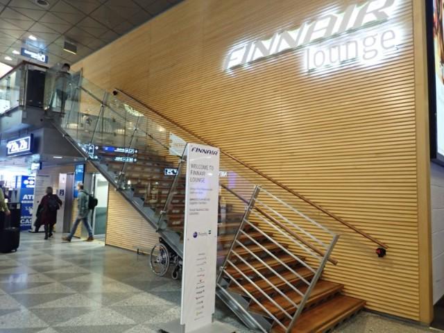 ヘルシンキ空港のフィンエアーラウンジ
