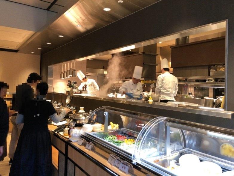 リストランテ カフェ チリエージョの朝食会場