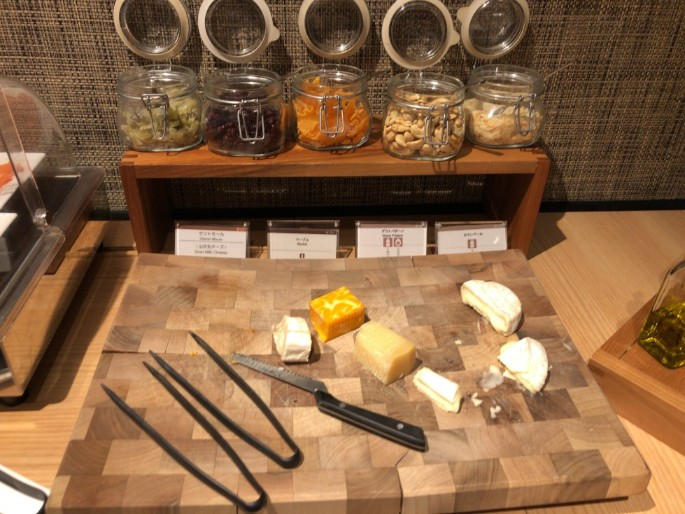 リストランテ カフェ チリエージョの朝食チーズ