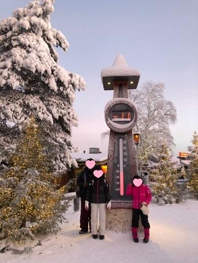 サンタクロース村の温度計塔