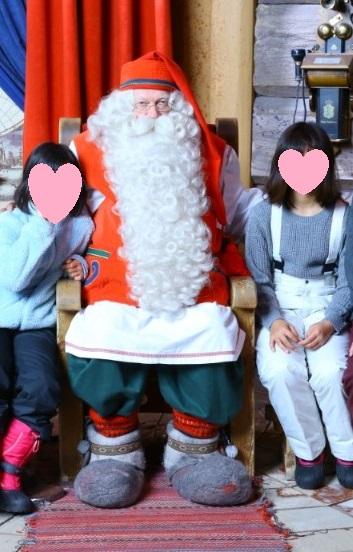 サンタさんとの写真撮影
