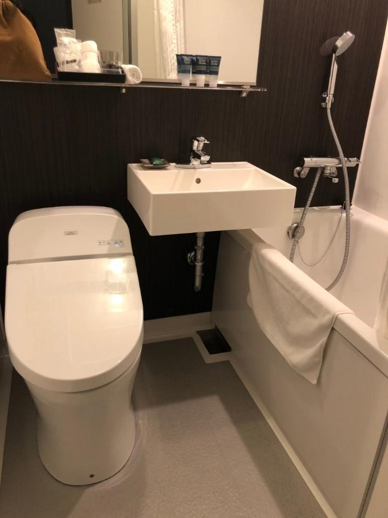 シェラトン函館コージーゲストルームのトイレ