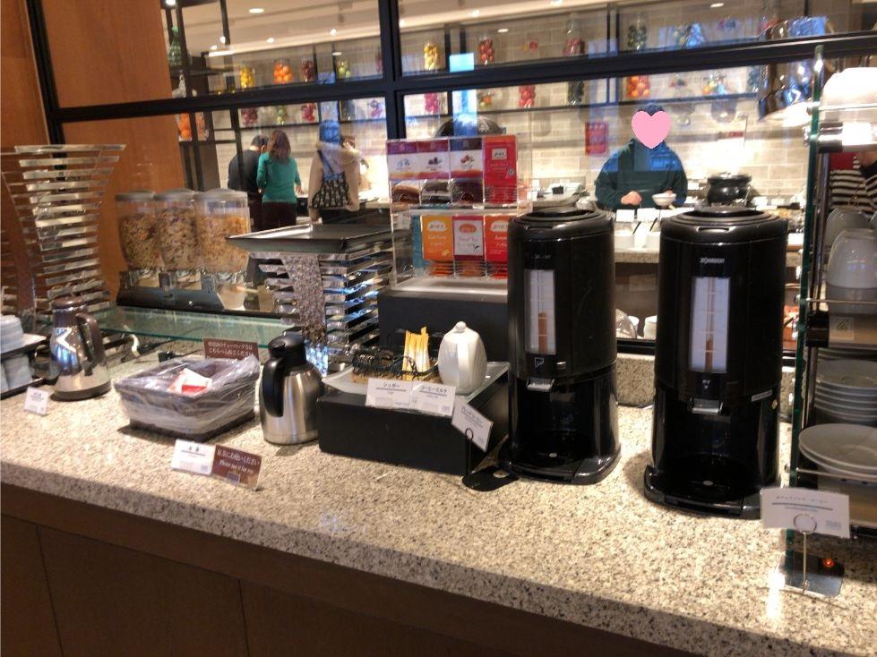 フォーポイントバイシェラトン函館の朝食(コーヒー類)