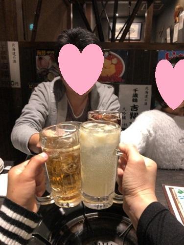 函館の家族旅行宴会の画像