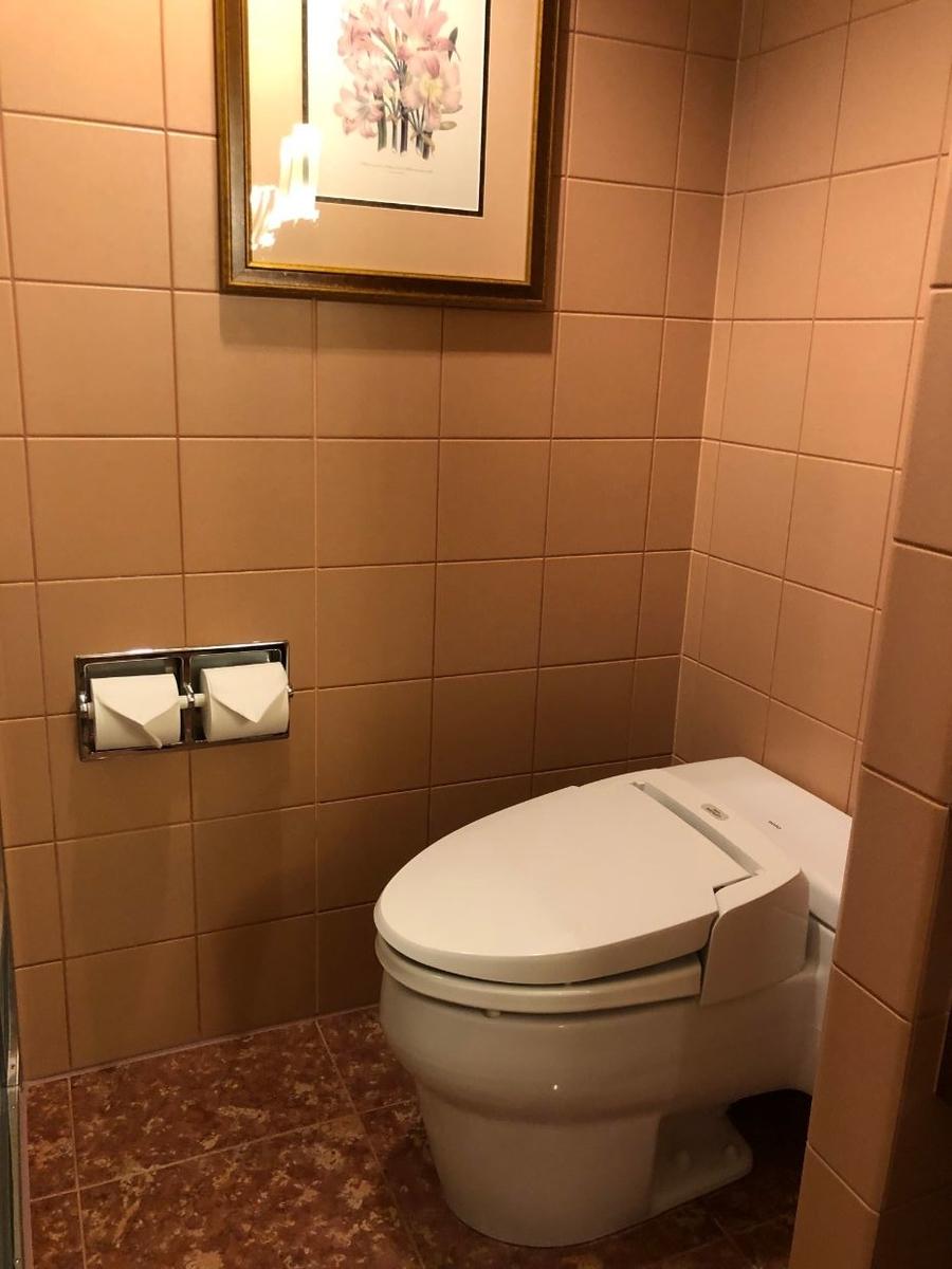 デラックスクラブアクセスルームのトイレ