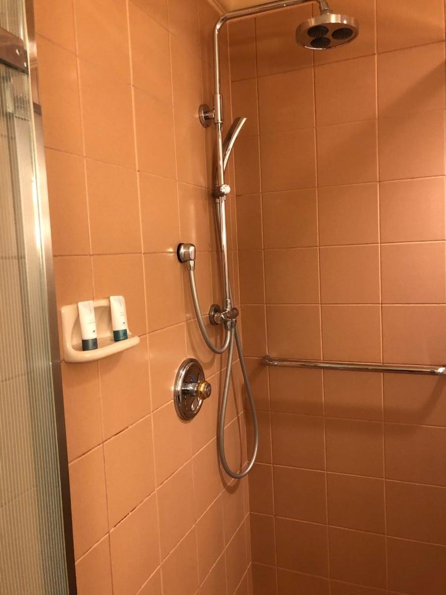 デラックスクラブアクセスルームのシャワー
