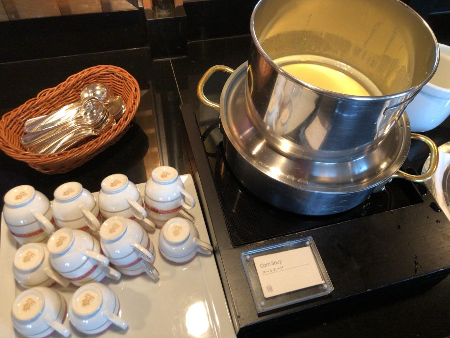 ウェスティン東京のクラブラウンジのスープ