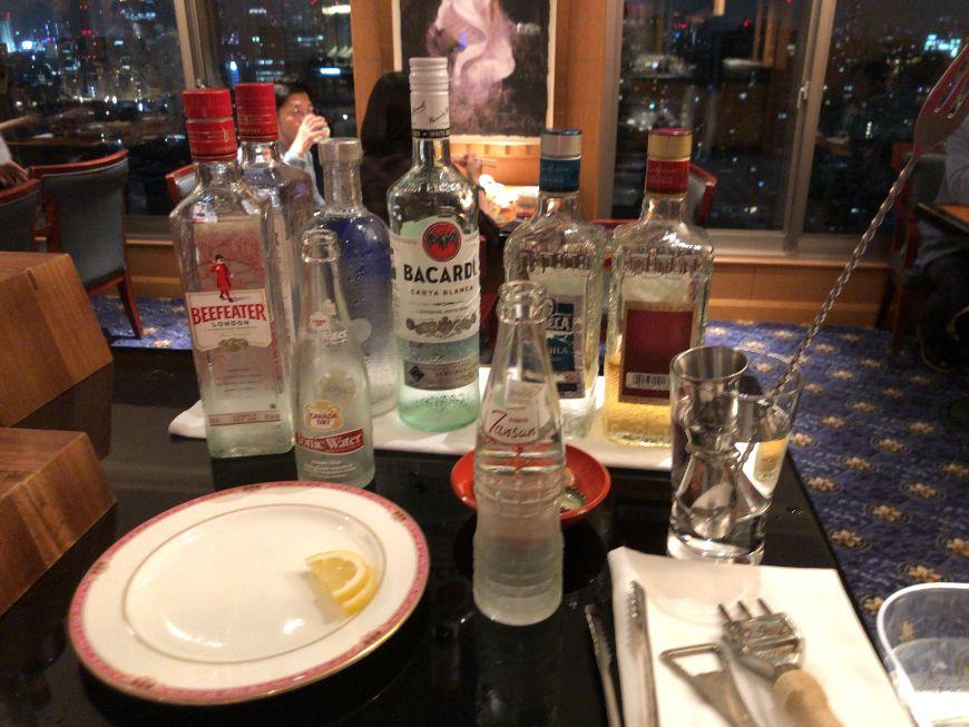 ウェスティン東京クラブラウンジカクテルタイムのアルコール