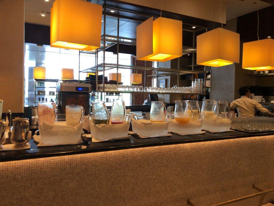 ウエスティン東京「ザ ・テラス」の朝食ジュース類