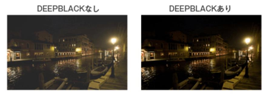 DEEP BLACK対応で黒がより黒く投影可能