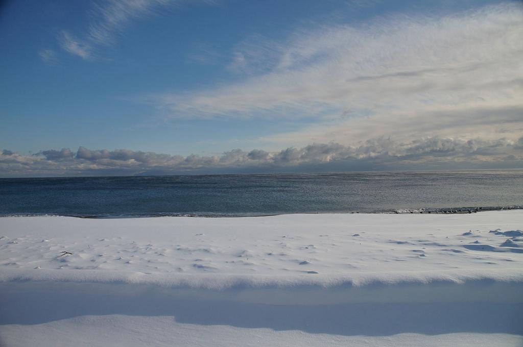 雪の大森浜