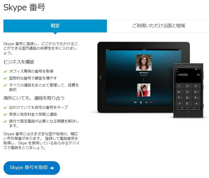 Skype番号