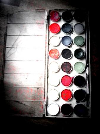 愛用の水彩絵の具