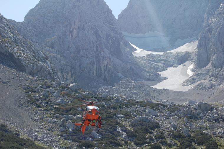 救助ヘリがよく飛んでいる山