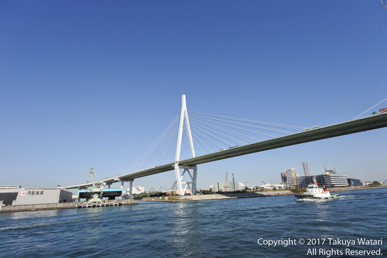 サンタマリア号から見る天保山大橋
