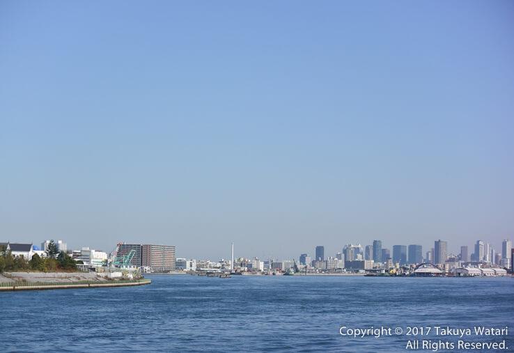 サンタマリア号から見る大阪の街並み