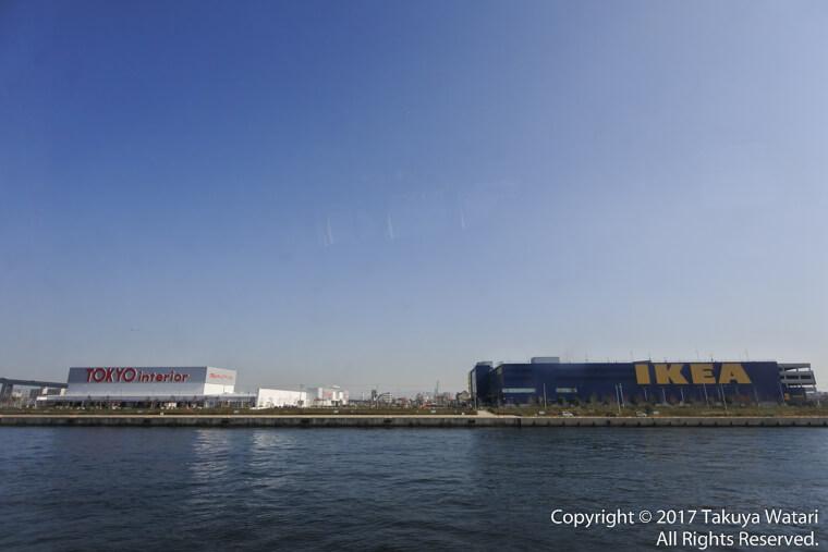 TOKYO interiorとIKEAがサンタマリア号から見えます