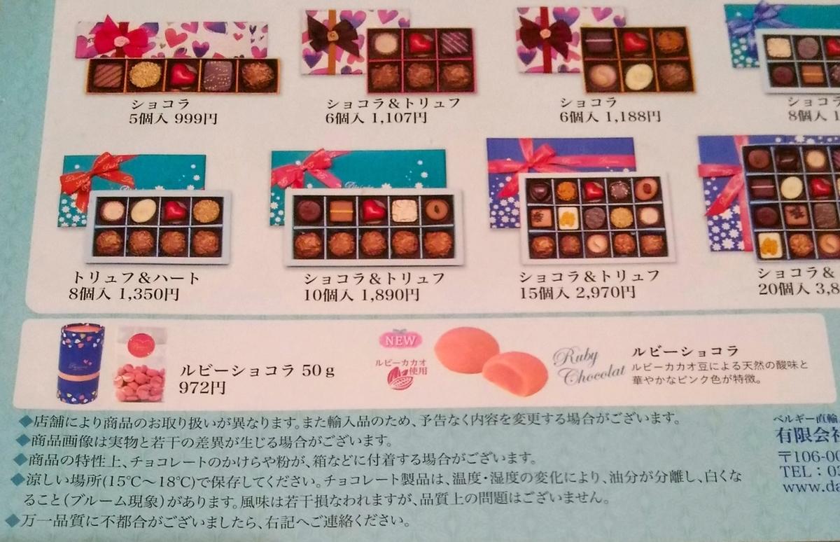 デジレーのチョコレート