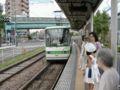 都電荒川線・熊野前電停(三ノ輪橋方面ホーム、2000年)