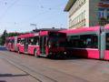 ベルン駅前のトロリーバス