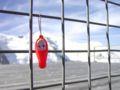 エギュードミディ駅展望台から、モンブランとたらこキユーピー