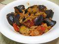 2008年7月22日の夕食・茄子とトマトのケチャップ炒め