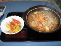 キムチ味噌ラーメン、水菜サラダ