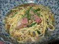 桜小町桑名店・鶏とほうれん草のピリ辛バジルスパゲティ