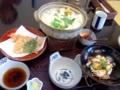 豆乳鍋焼きうどんのセット@歌行燈本店
