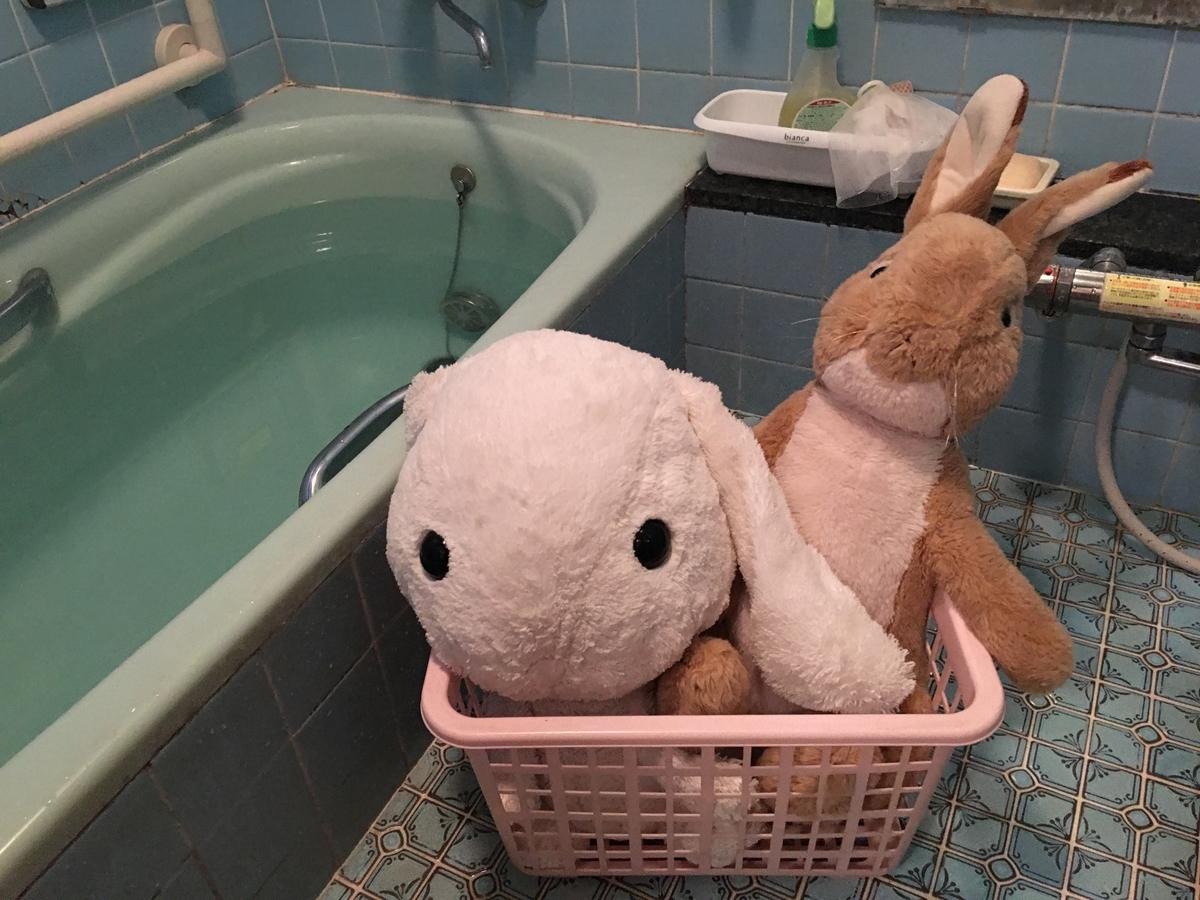 ぬいぐるみを洗う場所はお風呂がおすすめ