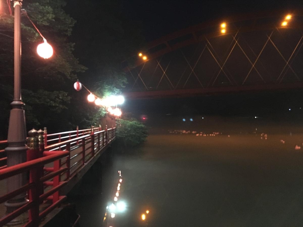会津柳津温泉 夜の街並み