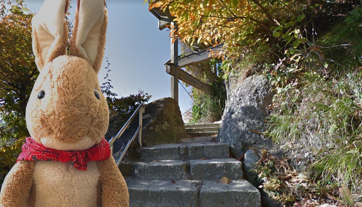 山寺 五大堂 最後の階段