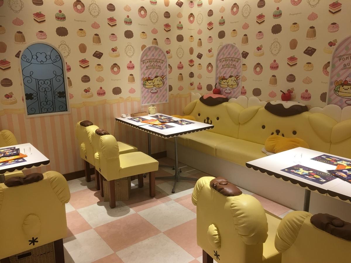 ポムポムプリンカフェ 名古屋店 店内の様子