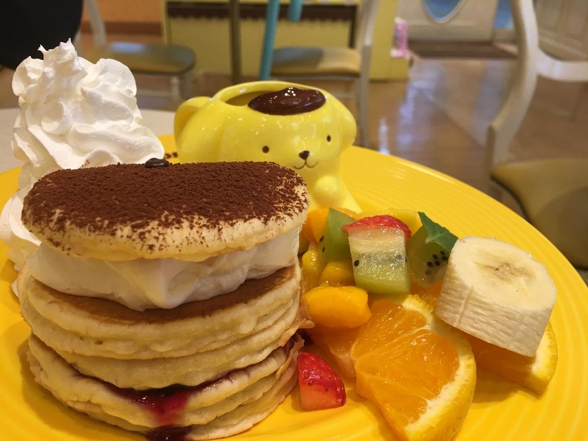 ポムポムプリンカフェ 原宿店 フルーツパンケーキ