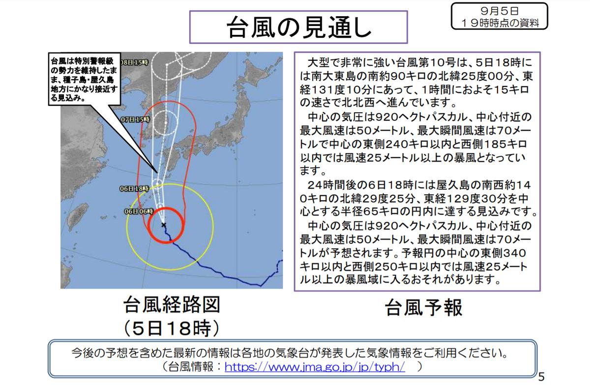 台風10号緊急合同会見 気象庁国土交通省 資料