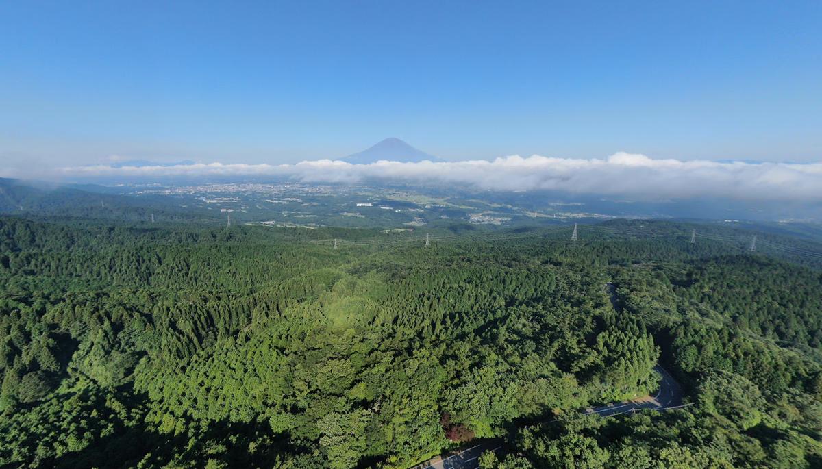 足柄峠から見える富士山の様子