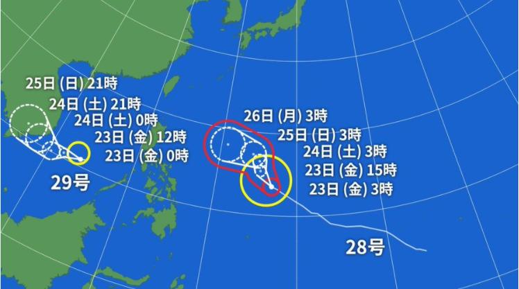 台風29号 うさぎ発生 2018年11月