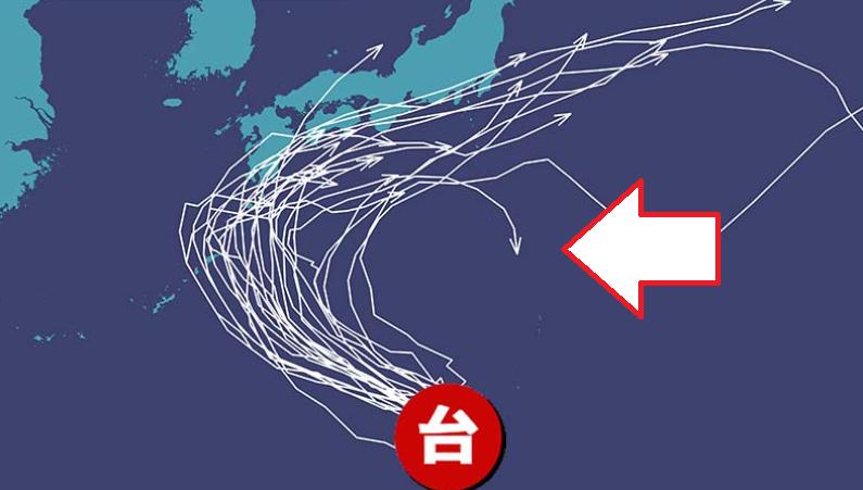 希少同じ台風が2度上陸の可能性