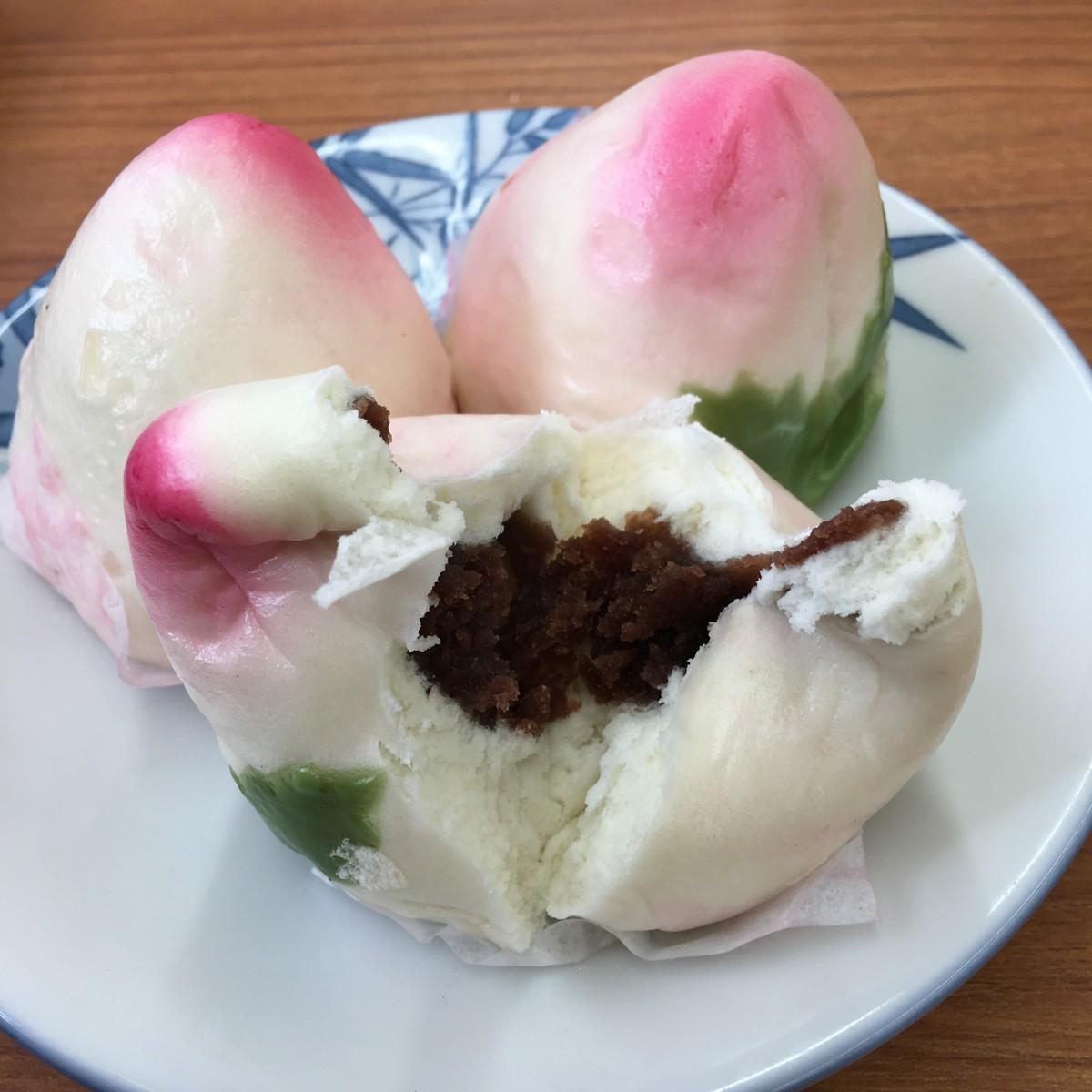 桃饅頭480円