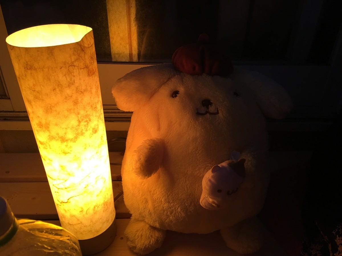 夜になると灯りが灯りました
