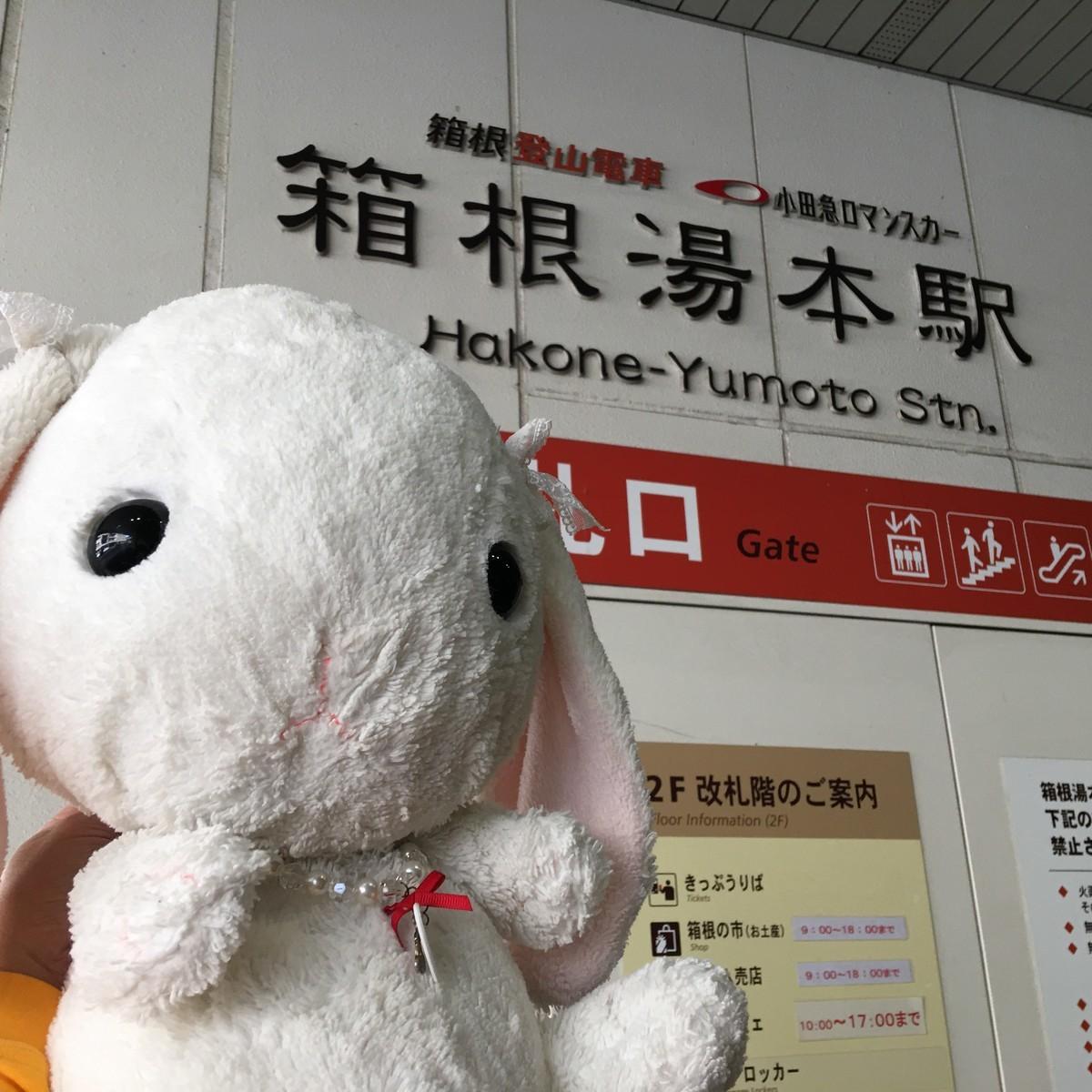 箱根湯本駅構内 箱根の市