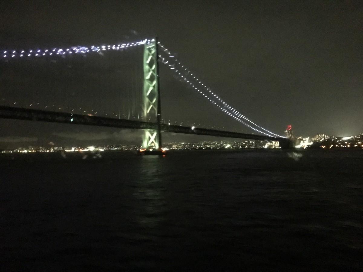 サンフラワー号からみた明石大橋