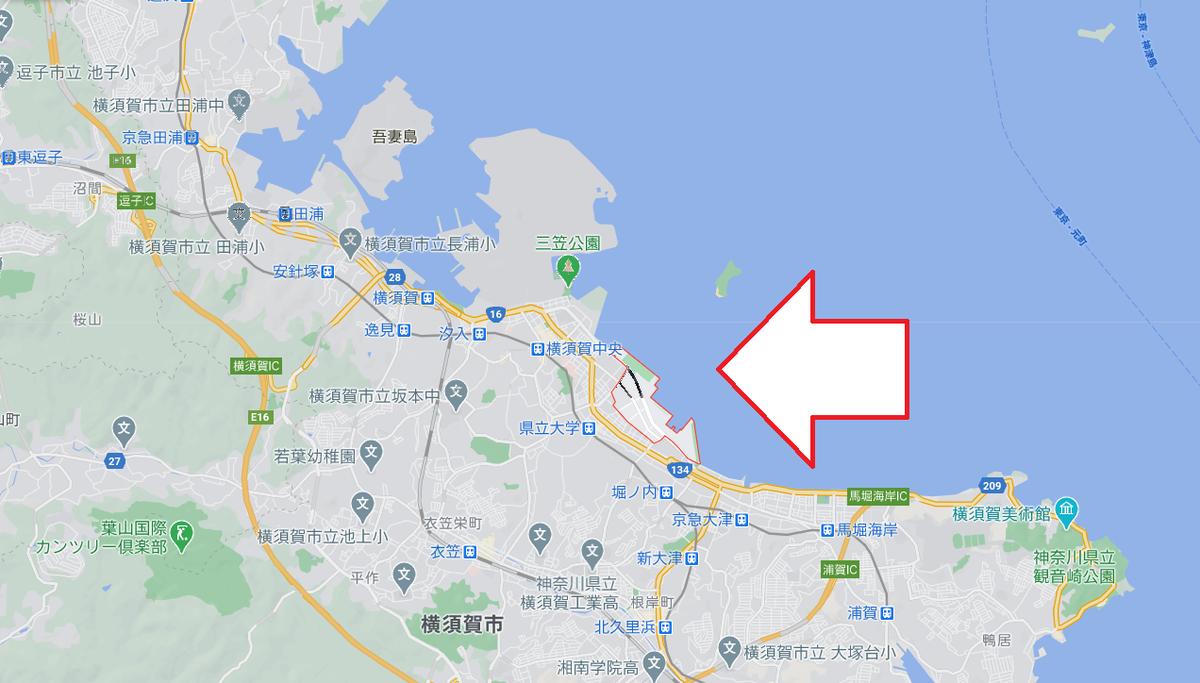 横須賀市平成町の場所